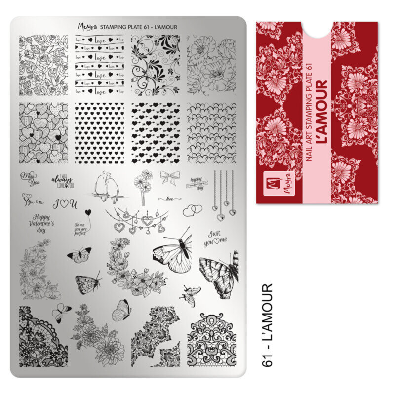 Image of   Moyra stamping plade 61 L'AMOUR