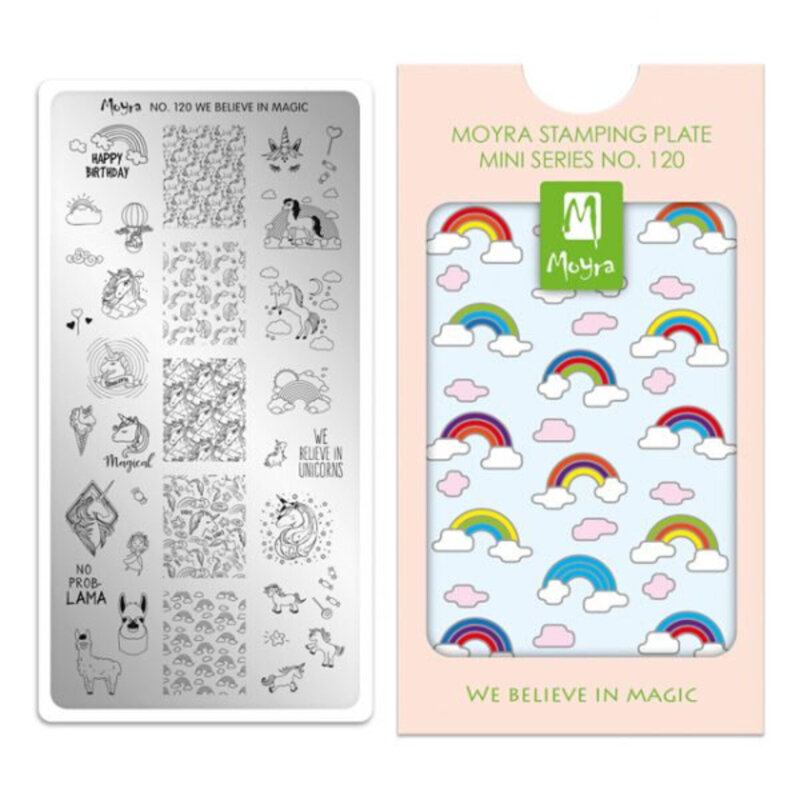 Image of   Moyra mini stamping plade 120 We Believe In Magic