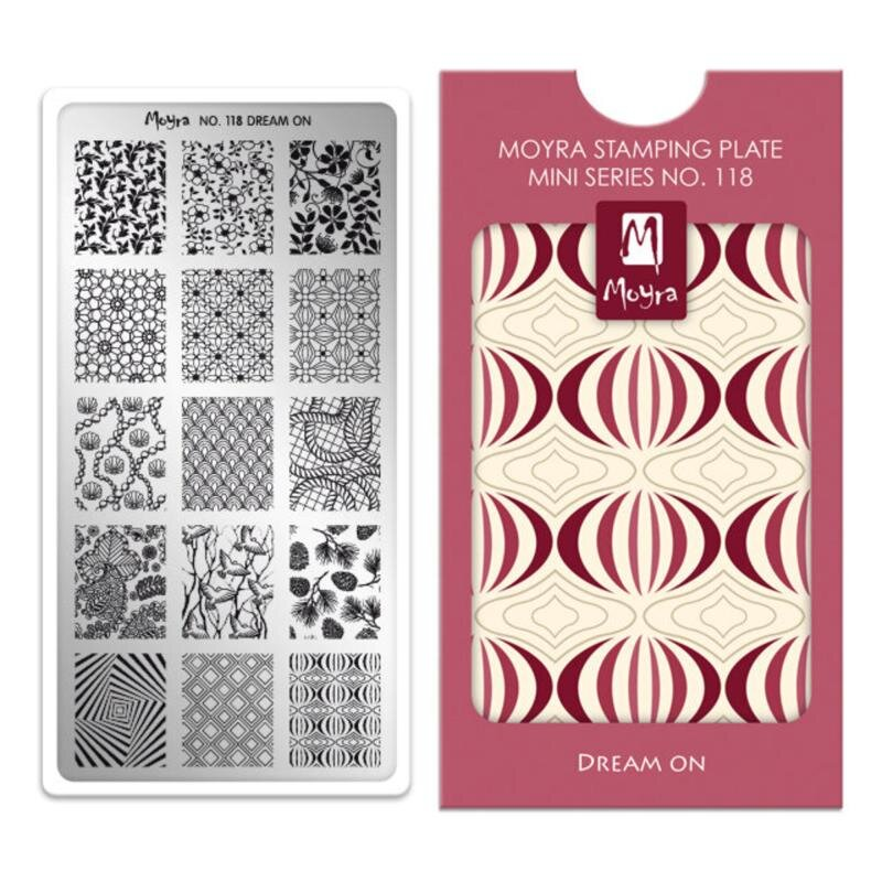 Image of   Moyra mini stamping plade 118 Dream on