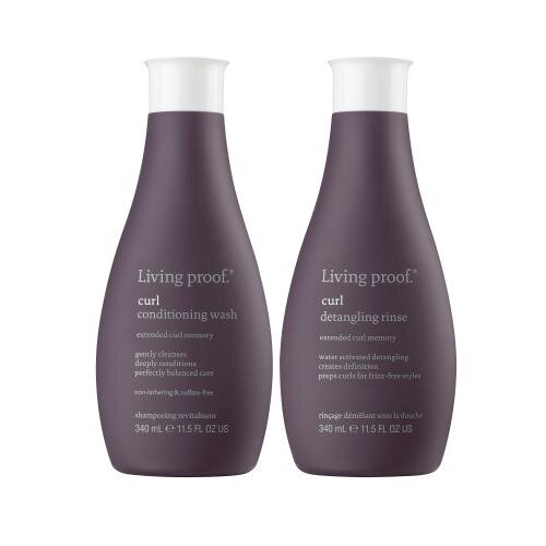 Living Proof Curl conditioning wash & detangling rinse