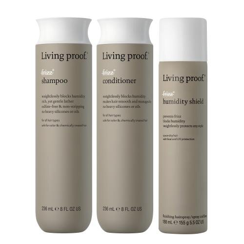 Living Proof No frizz shampoo, conditioner & humidity shield