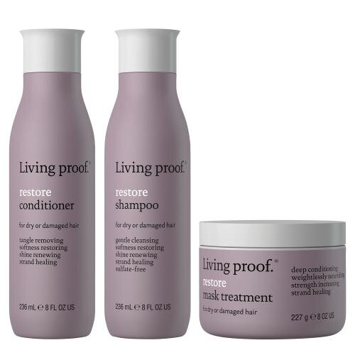 Living Proof Restore shampoo, conditioner & mask treatment