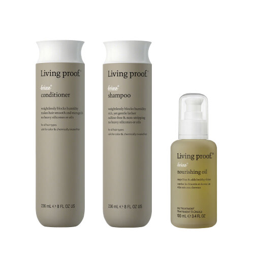 Living Proof No frizz shampoo, conditioner & Nourishing Oil
