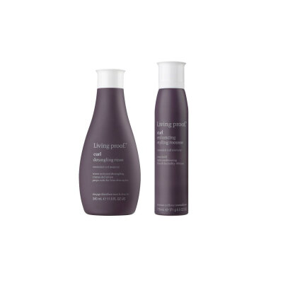 Living Proof Curl conditioning wash & Enhancing styling mousse